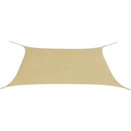 Parasolar din tesut oxford deptunghiular 2x4 m Bej