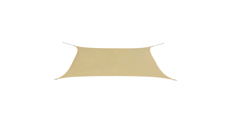 Parasolar din tesut oxford deptunghiular 4x6 m Bej