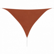 Parasolar din tesut oxford triunghiular 5x5x5m, Teracota