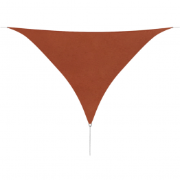 Parasolar din tesut Oxford, triunghiular 3.6x3.6x3.6m, Teracota