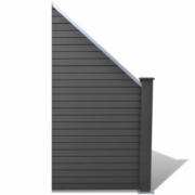 Panou pentru gard gradina din lemn compozit WPC, oblic, gri