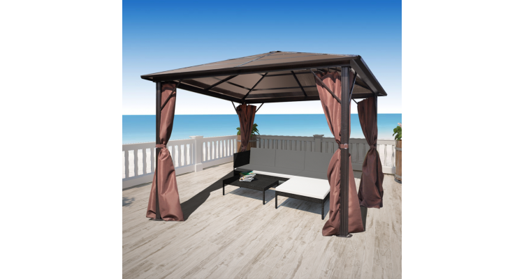 Foto Pavilion Maro Aluminiu Rezistent Intemperii Plus