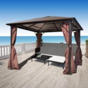 Pavilion maro aluminiu 300 x 300 cm, rezistent la intemperii