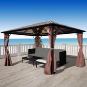 Pavilion maro aluminiu 400 x 300 cm, rezistent la intemperii