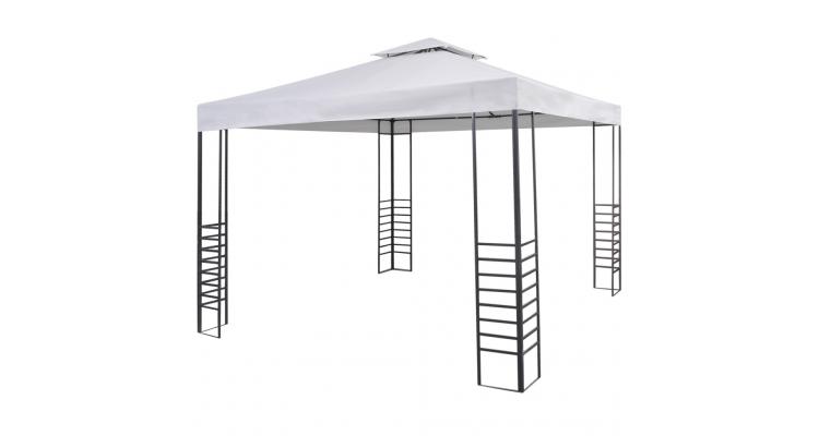 Pavilion pentru gradina 3 x 3 m Alb