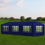 Pavilion pentru petreceri, 8 pereti, 9 x 3 x 2,5 m, Albastru
