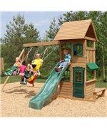 Complex de joaca din lemn de cedru cu leagane Big Backyard Windale Kidkraft