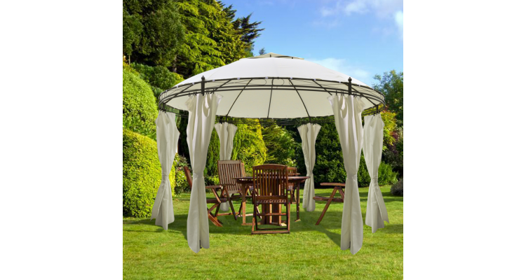 Pavilion Rotund Draperii Imagine