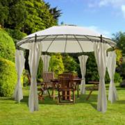 Pavilion rotund cu draperii 3,5 x 2,7 m