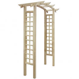Pergola arcuita din lemn pentur gradina 150 x 50 x 220 cm