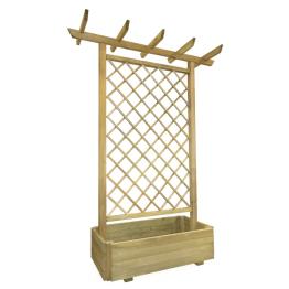 Pergola din lemn cu jardiniera pentru gradina 162 x 56 x 204 cm