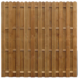 Panou gard din lemn cu sipci suprapuse