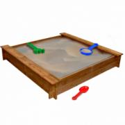 Cutie de nisip patrata pentru copii, lemn