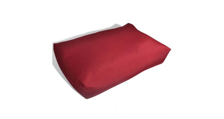Perna spate tapitata, 60 x 40 x 20 cm, Rosu carmin poza kivi.ro