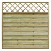 Panou patrat de gard din lemn pentru gradina cu zabrele 180 x 180 cm