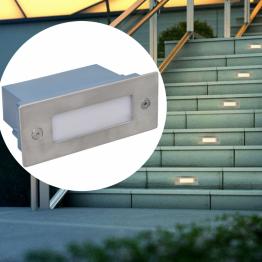 Lampa LED incastrata pentru scari, 2 buc, 44 x 111 x 56 mm