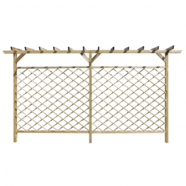 Gard impletit pentru gradina cu pergola