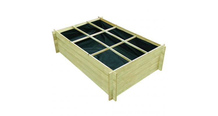 Plantator din lemn tratat 150 x 100 x 40 cm
