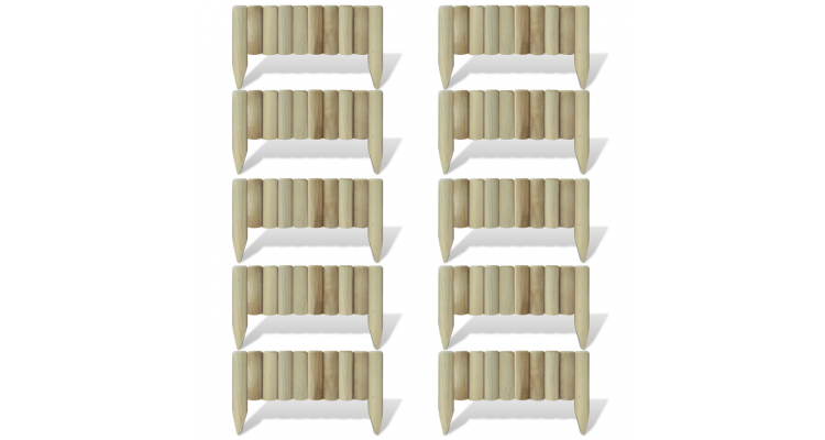 Prasitoare din butuci 10 buc 60 cm