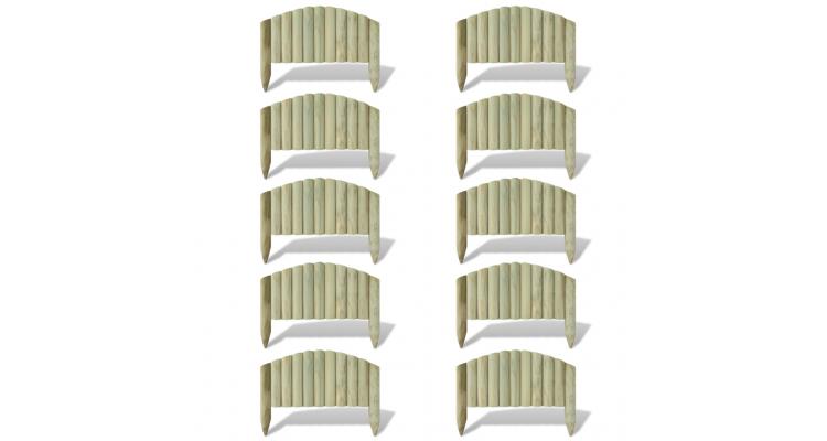 Prasitoare din butuci arcuiti 10 buc 55 cm
