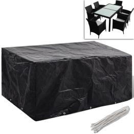 Prelata mobilier exterior din poliratan cu 10 inele 240 x 140 cm