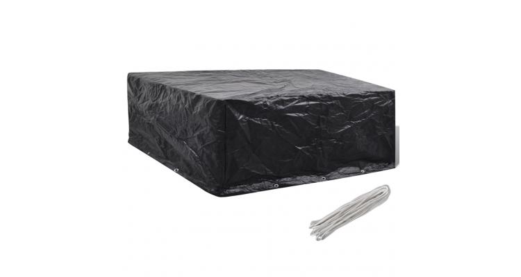Prelata mobilier exterior din poliratan cu 10 inele 260 x 260 x 90 cm