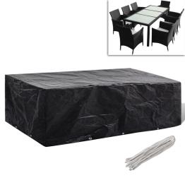 Prelata mobilier exterior din poliratan cu 10 inele 300 x 140cm