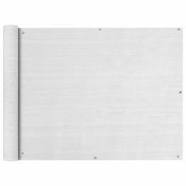 Prelata pentru balcon din HDPE, 90 x 400 cm, alb