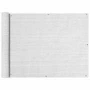Prelata pentru balcon din HDPE, 90 x 600 cm, alb