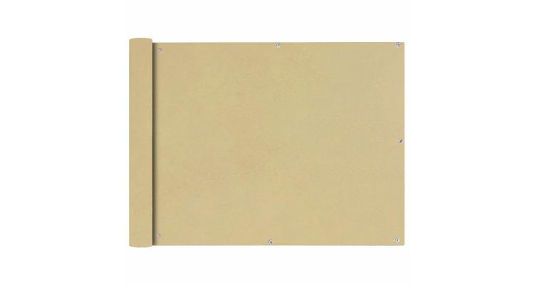 Prelata pentru balcon, material textil oxford, 90x400 cm, bej