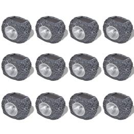 Reflector solar LED in forma de piatra 12 buc