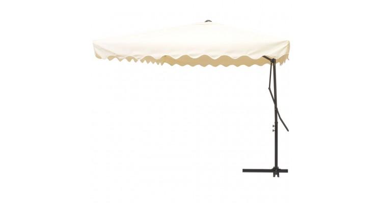 Umbrela Soare Suspendata Stalp Otel Crem Poza