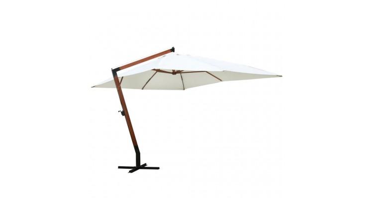 Umbrela de soare 300 x 400 cm, Alb imagine 2021 kivi.ro