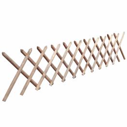 Gard extensibil tip Trellis din lemn tratat, 250 x 60 cm