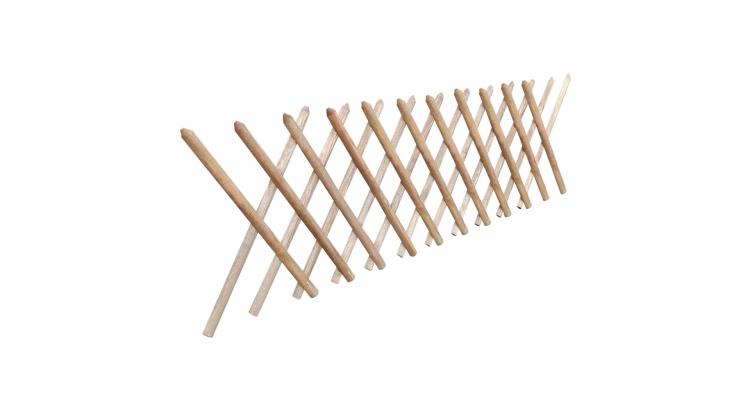 Gard extensibil tip Trellis din lemn impregnat, 250 x 80 cm poza kivi.ro