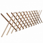 Gard extensibil tip Trellis din lemn impregnat, 250 x 100 cm