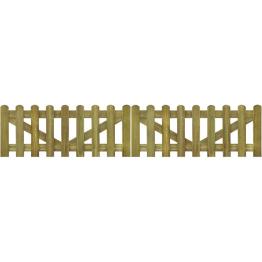 Poarta din scanduri de gard din lemn tratat 300 x 60 cm, 2 buc.