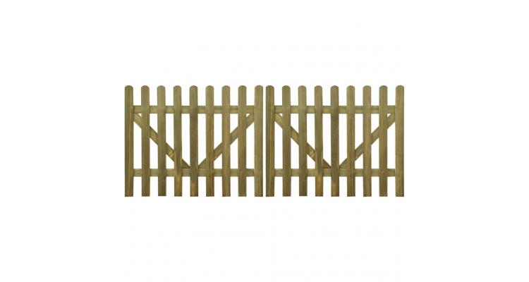 Poarta Scanduri Lemn Tratat - 17009