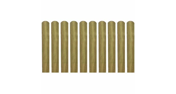 Scandura de gard din lemn tratat 60 cm, 10 buc. imagine 2021 kivi.ro
