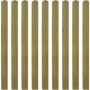 Scanduri de gard din lemn tratat, 10 buc, 120 cm