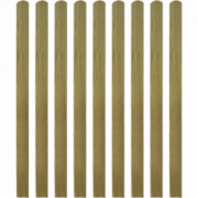 Scandura de gard din lemn tratat, 10 buc, 140 cm