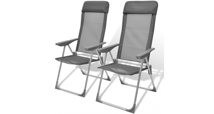Set Scaune Pliabile Camping Aluminiu - 17245