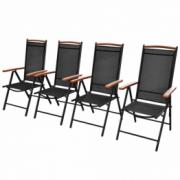 Set 4 scaune din aluminiu pentru gradina