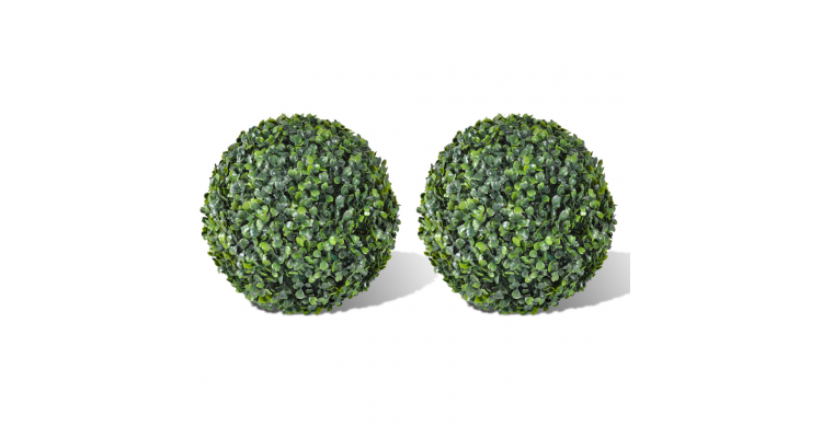 Set arbusti ornamentali artificiali 35 cm 2 buc