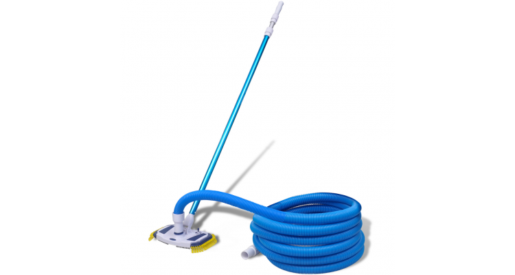 Set curatare piscina vacuum cu tub telescopic si furtun poza kivi.ro