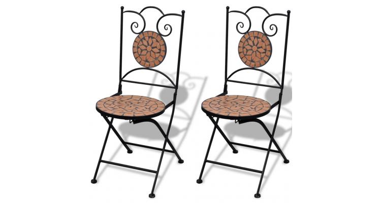 Set de 2 scaune din mozaic, culoare teracota poza kivi.ro