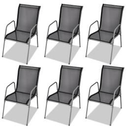 Set de 6 scaune din textilena pentru exterior