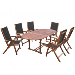Set Masa pentru gradina din lemn de salcam, 7 piese