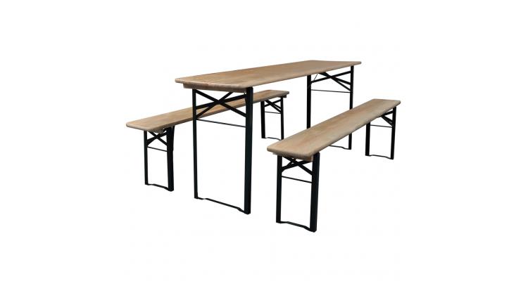 Set mobilier berarie pliabil masa x 2 banci
