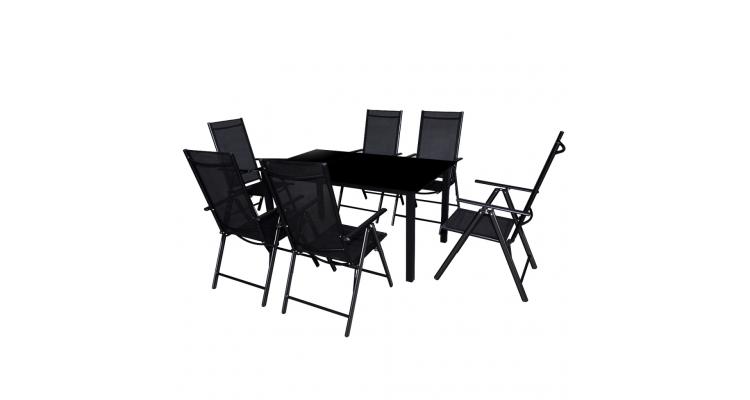 Imagine Set Mobilier Aluminiu Negru